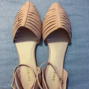 NWOT BAMBOO Nude Pointed-Toe Flats Size 9